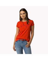 Tommy Hilfiger | Tommy Cotton Embroidered T-shirt | Lyst