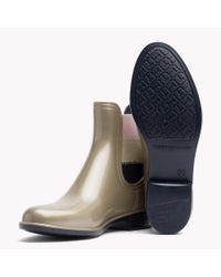 Tommy Hilfiger - Metallic Ankle Rain Boot - Lyst