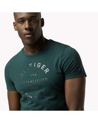 Tommy Hilfiger - Green Regular Fit T-shirt for Men - Lyst