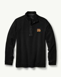 Tommy Bahama - Black Big & Tall Nfl Ben & Terry Coast Half-zip Sweatshirt for Men - Lyst