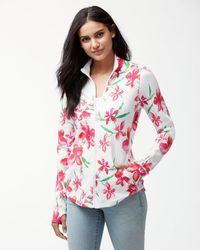 Tommy Bahama - White Jen & Terry Floral Fade Full-zip Sweatshirt - Lyst