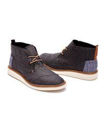 TOMS - Black Chambray Men's Mateo Chukka Boots for Men - Lyst