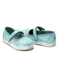 TOMS - Multicolor Aqua Glimmer Tiny Mary Janes - Lyst