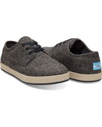 TOMS - Gray Charcoal Fleck Textile Men's Paseo Sneakers for Men - Lyst