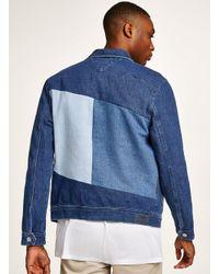 Topman - Blue Tommy Jeans Denim Trucker Jacket for Men - Lyst