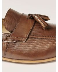 Topman - Brown Tan Leather Rigel Tassel Loafer for Men - Lyst