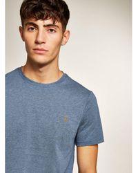 Farah - Blue Dark Denim 'denny' Slim T-shirt for Men - Lyst