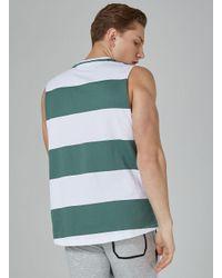 Topman - Green Stripe Tank Vest for Men - Lyst