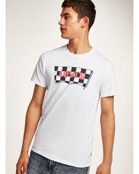 Topman - Levi's White 'checkerboard' T-shirt for Men - Lyst