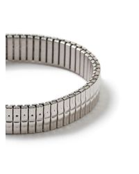 Topman - Metallic Ilver Stretch Bracelet for Men - Lyst