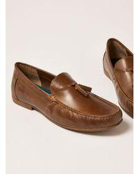 Topman - Brown Tan Leather Blast Tassel Loafer for Men - Lyst