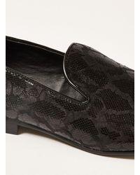 Topman Black Duke Print Loafer for men
