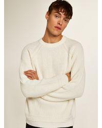 Topman - Multicolor Off White Stitch Sweater for Men - Lyst