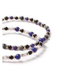 Topman - Blue Navy Bead Bracelet for Men - Lyst