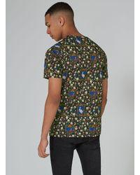 Topman - Black Birds Print T-shirt for Men - Lyst