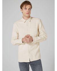 Topman - Natural Ltd Ecru Carson Heavyweight Long Sleeve Shirt for Men - Lyst