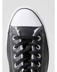 Converse - Black Leather Hi Tops for Men - Lyst