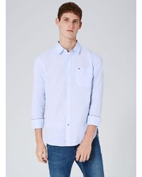 Tommy Hilfiger - Blue Dobby Shirt for Men - Lyst