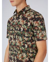 Topman - Multicolor Abstract Camouflage Short Sleeve Casual Shirt for Men - Lyst