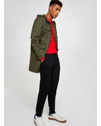 Topman - Multicolor Khaki Parka Coat for Men - Lyst