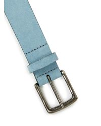 TOPMAN - Light Blue Suede Belt for Men - Lyst