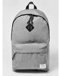 5048cb8b40 Lyst - TOPMAN Grey Branded Backpack in Gray for Men