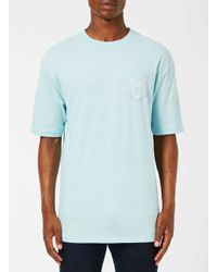 Topman | 49 Palms Blue Icy Cold Print T-shirt for Men | Lyst