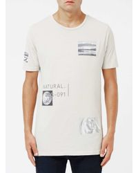 Topman - Gray Stone Natural Earth Print T-shirt for Men - Lyst