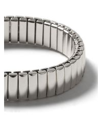 TOPMAN - Metallic Silver Look Stretch Bracelet* for Men - Lyst