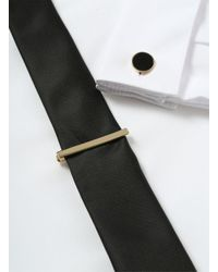 Topman - Black Gold Look Circle Collar Tips And Tie Pin Set* for Men - Lyst