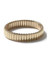TOPMAN | Metallic Gold Look Metal Stretch Bracelet* for Men | Lyst
