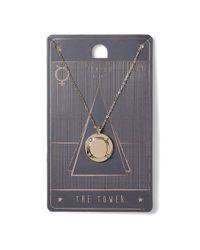 Topman - Metallic The Tower Tarot Necklace* for Men - Lyst