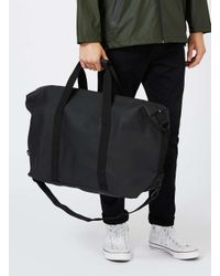 Rains - Black Barrel Bag for Men - Lyst