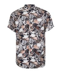 SELECTED | Red Selected Homme Floral Abstract Print Stretch Fit Shirt for Men | Lyst