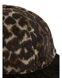Topman - Brown Aaa Leopard Print Snapback Cap for Men - Lyst