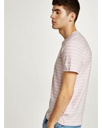 Topman - Farah Pink Striped 'salford' T-shirt for Men - Lyst