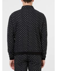 Topman | Black And White Spotted Tailored Coach Jacket for Men | Lyst