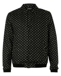 Topman - Black And White Spotted Tailored Coach Jacket for Men - Lyst