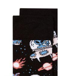 Topman - Black 'out Of This World' Alien Sock for Men - Lyst