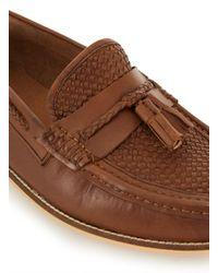 Topman - Brown Tan Leather Tassel Loafer for Men - Lyst