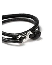 Topman - Black Leather Bracelet for Men - Lyst