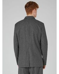Topman - Design Gray Pinstripe Blazer for Men - Lyst
