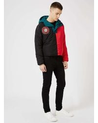Topman - Multicolor Design Colour Block Puffer Jacket for Men - Lyst