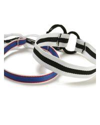 Topman - Blue Triped Bracelet Pack for Men - Lyst