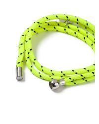 Topman - Yellow Abseil Bracelet for Men - Lyst