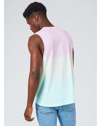 Topman - Multicolor Rainbow Oversized Tank Top for Men - Lyst