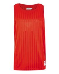9e5bd0fa8bfb2d TOPMAN Red Sports Logo Vest in Red for Men - Lyst