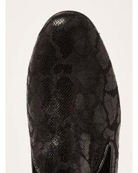 Topman - Black Duke Print Loafer for Men - Lyst