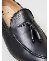 H by Hudson - Brown Hudson's Black Leather Loafer for Men - Lyst