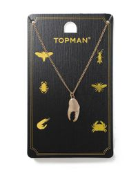 Topman | Metallic Gold Claw Necklace for Men | Lyst
